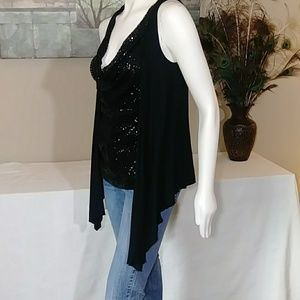 BKE Sweaters - BKE 2 in 1 Sleeveless Cardigan with Sequin Top